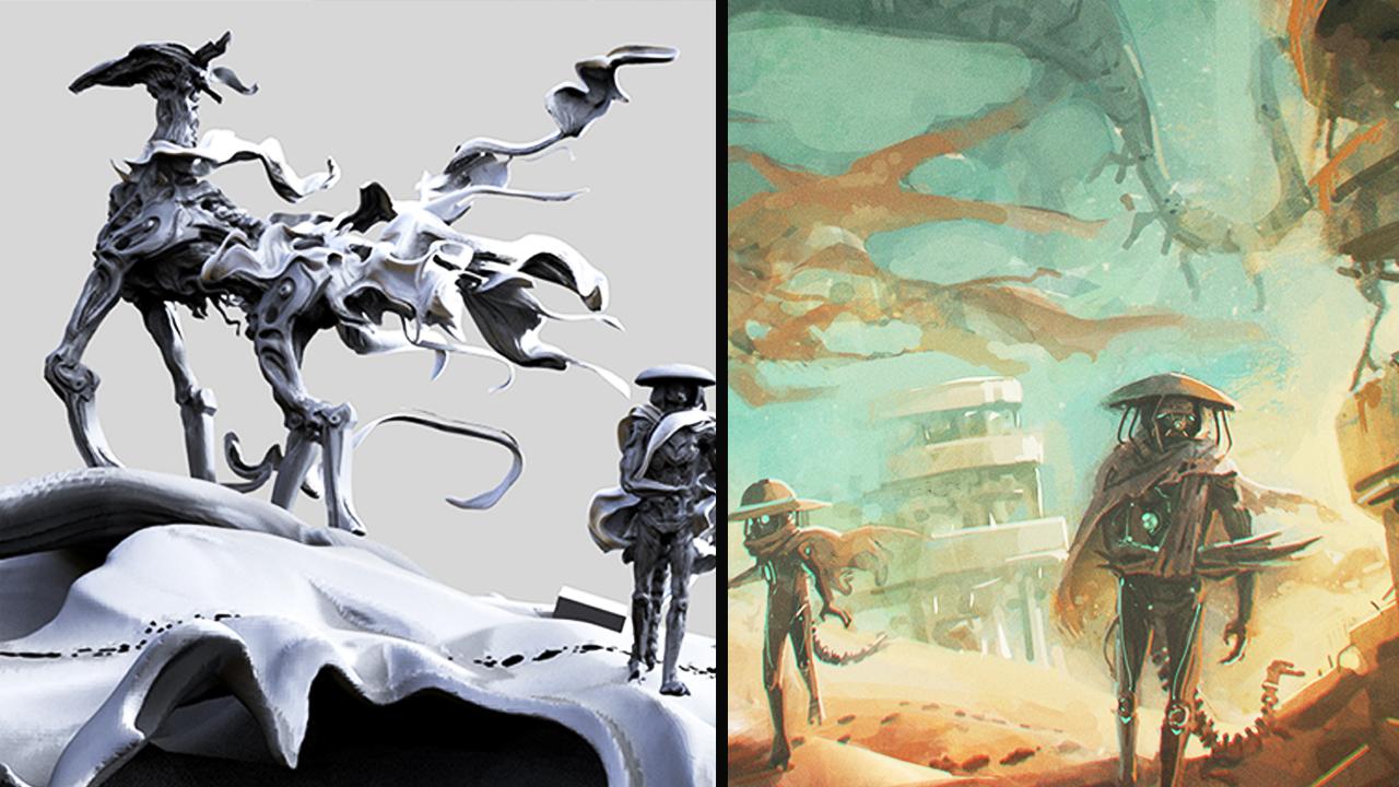 作業解説】Zbrushを使ったコンセプトアートっぽい絵の描き方